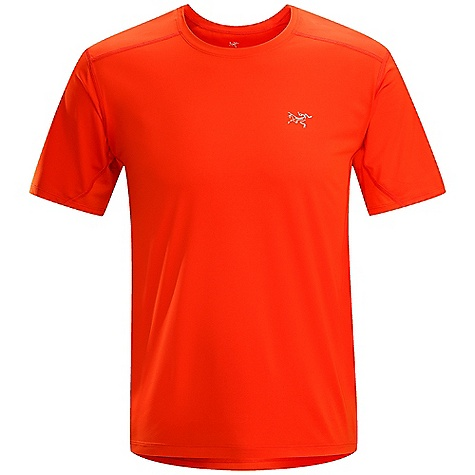 Free Shipping. Arcteryx Men's Accelero Comp SS FEATURES of the Arcteryx Men's Accelero Comp Short Sleeve Durable, smooth knit front panel reduces chafing Mesh back increases ventilation and comfort in hot weather; treated with anti-odour and wicking finish Strategic flatlock construction reduces chafing Reflective blades and logo for low light visibility Provides sun protection (UPF 50+ (front)) Flatlocked seams lie flat for added comfort Breathable mesh panels under arms to vent perspiration Anatomical shaping for fit and comfort Gusseted underarms Lightweight, highly air permeable knit mesh textile that has wicking properties for moisture management - $59.00