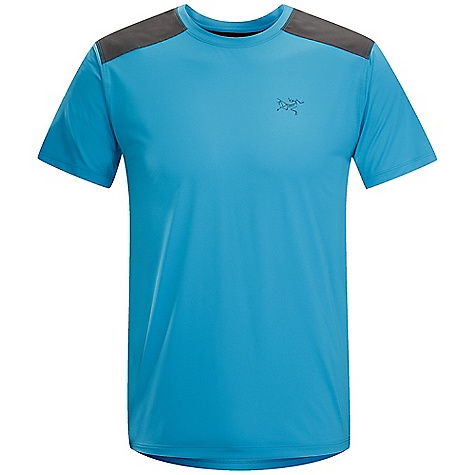 Free Shipping. Arcteryx Men's Ether Comp SS Crew DECENT FEATURES of the Arcteryx Men's Ether Comp Short Sleeve Crew Refined style Reinforced shoulder fabric resists abrasion and heavy wear Gusseted underarms give no-lift comfort Minimized seams increase durability, reduce chafing UPF 50+ We are not able to ship Arcteryx products outside the US because of that other thing. The SPECS Weight: M: 4.3 oz / 123 g Fit: Athletic, hip length Fabric: Helius - 100% polyester, Enduraflex - 85% polyester, 15% spandex This product can only be shipped within the United States. Please don't hate us. - $68.95