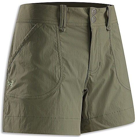Free Shipping. Arcteryx Women's Parapet Short FEATURES of the Arcteryx Women's Parapet Short Breathable Lightweight Durable Quick-drying Articulated patterning for unrestricted mobility Gusseted crotch Wide hemline Two hand pockets Two rear pockets Embroidered logo Belt loops Snap waist closure Wide, comfortable waistband - $68.95