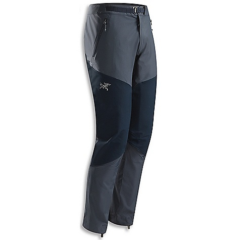 Free Shipping. Arcteryx Women's Gamma Rock Pant DECENT FEATURES of the Arcteryx Women's Gamma Rock Pant Four-way stretch Fortius 1.0 fabric reinforced with Burly Double Weave knees and seat Articulated patterning and gusseted crotch allows full mobility Two zippered front hand pockets and a fly zip Low profile metal hook waist adjuster chalk bag attachment window Seamless inner lower leg reduces crampon snagging Stowable boot lace hooks We are not able to ship Arcteryx products outside the US because of that other thing. We are not able to ship Arcteryx products outside the US because of that other thing. We are not able to ship Arcteryx products outside the US because of that other thing. The SPECS Weight: M: 11.5 oz / 325 g Fortius 1.0 - 84% nylon, 16% spandex Burly Double Weave - 46% nylon, 46% polyester, 8% spandex Fit: Trim, tapered leg This product can only be shipped within the United States. Please don't hate us. - $178.95
