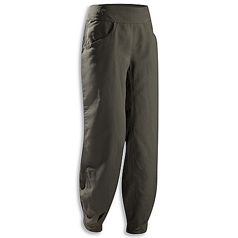 Hunting Features of the Arcteryx Women's C'esta Pant Natural fibre textile with soft finish Wide waistband has side entry zip and elasticized back Shaped slash pockets, back patch pockets, pleats at hem Topstitch detailing and hem pleats add visual appeal Embroidered BIRD logo - $49.99