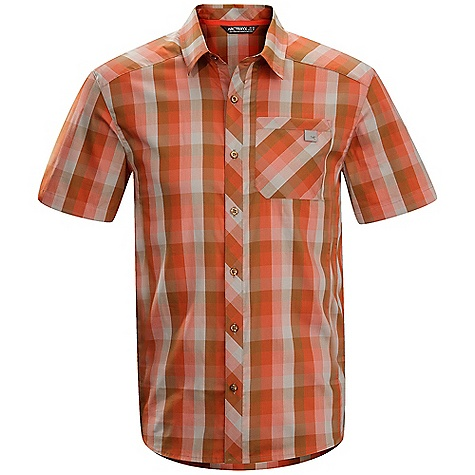 Hunting Free Shipping. Arcteryx Men's Peakline SS Shirt DECENT FEATURES of the Arcteryx Men's Peakline Short Sleeve Shirt New fabric Cotton/polyester blend fabric with stretch Articulated patterning allows freedom of movement Zippered chest pocket Embroidered Bird logo We are not able to ship Arcteryx products outside the US because of that other thing. We are not able to ship Arcteryx products outside the US because of that other thing. We are not able to ship Arcteryx products outside the US because of that other thing. We are not able to ship Arcteryx products outside the US because of that other thing. The SPECS Weight: (M): 5.1 oz / 144.6 g Fit: Trim Wye - 78% cotton, 22% polyester This product can only be shipped within the United States. Please don't hate us. - $74.95