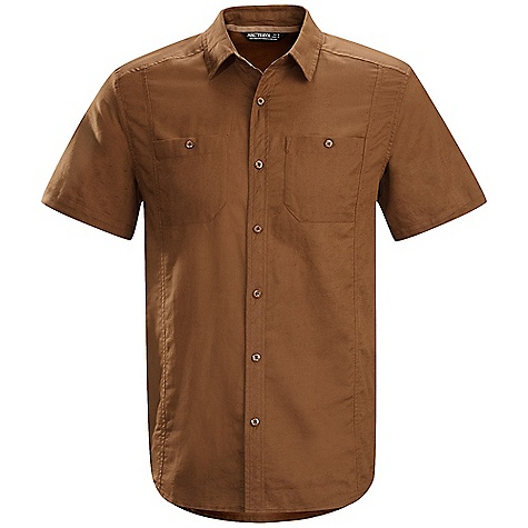 Hunting Free Shipping. Arcteryx Men's Ravelin SS Shirt DECENT FEATURES of the Arcteryx Men's Ravelin Short Sleeve Shirt Natural fibre comfort Articulated patterning allows freedom of movement Two button chest pockets; back dart Embroidered Bird logo We are not able to ship Arcteryx products outside the US because of that other thing. We are not able to ship Arcteryx products outside the US because of that other thing. We are not able to ship Arcteryx products outside the US because of that other thing. We are not able to ship Arcteryx products outside the US because of that other thing. The SPECS Weight: (M): 7.8 oz / 221 g Fit: Relaxed Soltica - 55% linen, 45% cotton This product can only be shipped within the United States. Please don't hate us. - $68.95