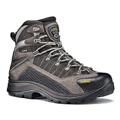 Camp and Hike Features of the Asolo Men's Drifter Gv Boot Upper: Water-resistant suede mm 1,6-1,8 + High tenacity nylon Lining: Gore-Tex Performance comfort footwear Lasting Board: Asoflex 00 SR Anatomic Footbed: Lite 2 Sole: Asolo/Vibram Radiant (rubber-eva) Fit: MM-ML Weight: 1/2 pair: 610 grams - $259.95
