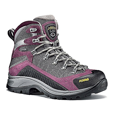 Camp and Hike Features of the Asolo Women's Drifter Gv Boot Upper: Water-resistant suede mm 1,6-1,8 + High tenacity nylon Lining: Gore-Tex Performance comfort footwear Lasting Board: Asoflex 00 SR Anatomic Footbed: Lite 2 Sole: Asolo/Vibram Radiant (rubber-eva) Fit: MM-ML Weight: 1/2 pair: 610 grams - $259.95
