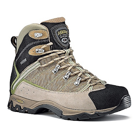 Camp and Hike On Sale. Free Shipping. Asolo Women's Temple Gv Boot DECENT FEATURES of the Asolo Women's Temple GV Boot Upper: Water resistance suede 1,6-1,8 mm + high tenacity nylon Lining: Gore-Text performance comfort footwear Lasting Board: Asoflex 00 SR Anatomic Footbed: Lite 2 Sole: Asolo/Vibram Cross Walk (rubber-eva) Fit: MM-ML Weight: 560 grams (1/2 pair size 8.5 US) - $156.99