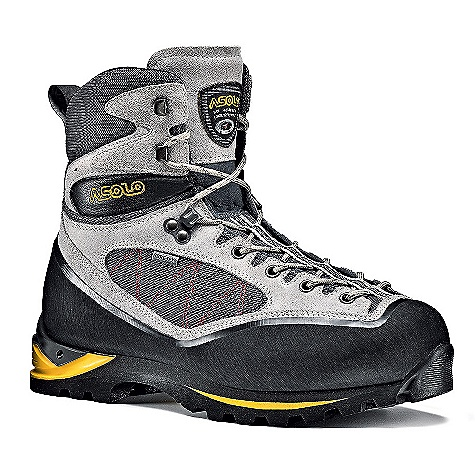 On Sale. Free Shipping. Asolo Women's Pumori Gv Boot DECENT FEATURES of the Asolo Women's Pumori GV Boot Upper: High resistance polyamide fabric + Per anger leather 2,2-2,4 mm Inner Lining: Gore-Tex performance comfort footwear Lasting Board: New ascent Anatomic Foot Bed: Lite 3 Sole: Asolo/Vibram Ascent + double density midsole in micro porous rubber + Dual Integrated System for semi-automatic crampons Fit: MM-ML Weight: 1/2 pair: 830 grams - $243.99