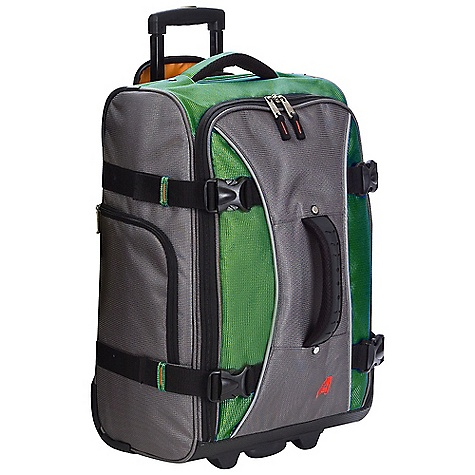 Entertainment Free Shipping. Athalon 21IN Hybrid Luggage Collection DECENT FEATURES of the Athalon 21IN Hybrid Luggage Collection Combine the best advantages of luggage and duffel bags Front feet allow bag stands on its own In-Line skate wheels allow the case to maneuver easily Wide zippered opening makes packing/unpacking a cinch Durable, yet amazingly lightweight! Top, front, and side ergonomic handles make lifting easy Hidden, telescoping pull handle Mesh pocket inside is great for organization Interior has a high contrast orange lining Sealed Ball-Bearing in-line skate wheels for easy wheeling The SPECS Dimension: 21in. x 14in. x 9in. Volume: 2646 cubic inches Weight: 7.7 lbs - $99.95