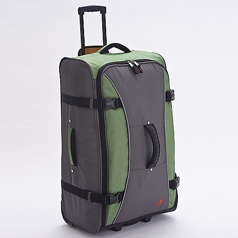 Entertainment Free Shipping. Athalon 29IN Hybrid Luggage Collection DECENT FEATURES of the Athalon 29IN Hybrid Luggage Collection Combine the best advantages of luggage and duffel bags Front feet allow bag stands on its own In-Line skate wheels allow the case to maneuver easily Wide zippered opening makes packing/unpacking a cinch Durable, yet amazingly lightweight! Top, front, and side ergonomic handles make lifting easy Hidden, telescoping pull handle Mesh pocket inside is great for organization Interior has a high contrast orange lining Sealed Ball-Bearing in-line skate wheels for easy wheeling The SPECS Dimension: 29in. x 17in. x 12in. Volume: 5916 cubic inches Weight 10.4 lbs - $139.95