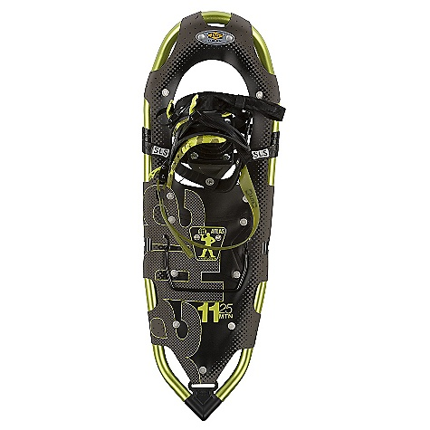 Camp and Hike On Sale. Free Shipping. Atlas Men's 11 Series Snowshoe DECENT FEATURES of the Atlas Men's 11 Series Snowshoe Spring-Loaded Suspension: An Atlas tenet from the beginning, Atlas' patented Spring-Loaded Suspension (SLS) keeps the snowshoe close underfoot for easy maneuvering and suspends your foot so it can move freely with its intended articulation, absorbing impact, flexing naturally side-to-side, and allowing deeper crampon penetration into the slope Wrapp Family Bindings: The mainstay of our Mountain Hiking snowshoes, the Wrapp Pro, Wrapp Plus, and new Wrapp Swift bindings offer a range of customization and features, all built around a platform of gender-specific lasts, exceptional arch support and one-pull Uniloop design for superior performance and fit V-Frames: A proprietary Atlas shape, our sturdy aluminum V-Frames track straight in deep snow, and the tapered tail pulls less snow as you step forward, saving your energy. The turned-up tail of the V-frame rolls easily into each step for a natural gait Heel Lift Bar Nytex Decking - 11 Series Duratek Decking - Elektra 11 Tempered Steel All-Trac Toe Crampon Stainless Steel Advanced Aft Traction The SPECS for 25IN Length: 25in. / 64 cm Surface Area: 176 square inches / 1135 square meter Weight: 4.16 lbs / 1.89 kg Load: 120 - 200 lbs / 54 - 91 kg The SPECS for 30IN Length: 30in. / 76 cm Surface Area: 222 square inches / 1432 square meter Weight: 4.58 lbs / 2.08 kg Load: 150 - 250 lbs / 68 - 113 kg - $167.99