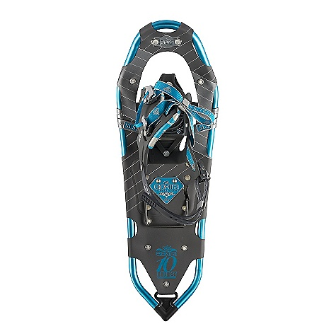 Camp and Hike On Sale. Free Shipping. Atlas Women's Elektra 10 Series Snowshoe DECENT FEATURES of the Atlas Women's Elektra 10 Series Snowshoe Spring-Loaded Suspension: An Atlas tenet from the beginning, Atlas' patented Spring-Loaded Suspension (SLS) keeps the snowshoe close underfoot for easy maneuvering and suspends your foot so it can move freely with its intended articulation, absorbing impact, flexing naturally side-to-side, and allowing deeper crampon penetration into the sloped Wrapp Family Bindings: The mainstay of our Mountain Hiking snowshoes, the Wrapp Pro, Wrapp Plus, and new Wrapp Swift bindings offer a range of customization and features, all built around a platform of gender-specific lasts, exceptional arch support and one-pull Uniloop design for superior performance and fit V-Frames: A proprietary Atlas shape, our sturdy aluminum V-Frames track straight in deep snow, and the tapered tail pulls less snow as you step forward, saving your energy. The turned-up tail of the V-frame rolls easily into each step for a natural gait Heel Lift Bar Nytex Decking Tempered Steel All-Trac Toe Crampon Tempered Steel Traverse Trac Rails The SPECS of 23IN Length: 23in. / 58 cm Surface Area: 145 square inches / 0.94 square meter Weight: 4.19 lbs / 1.90 kg Load: 80 - 160 lbs / 36 - 73 kg The SPECS of 27IN Length: 27in. / 69 cm Surface Area: 176 square inches / 1.14 square meter Weight: 4.41 lbs / 2 kg Load: 120 - 200 lbs / 54 - 91 kg - $139.99