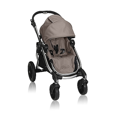 Entertainment Free Shipping. Baby Jogger City Select Single Stroller DECENT FEATURES of the Baby Jogger City Mini Single Stroller Patented Quick-Fold Technology - allows you to fold your stroller in one simple step Innovative multi-functional design allows you to select your seating arrangement up to 16 unique combinations (with double conversion kits - sold separately) Hand operated parking brake 12in. forever-air rear and 8in. lightweight front wheels with front wheel suspension and sealed ball bearings Swivel front wheels for quick and agile maneuverability can lock into place for long distance strolling Multi-position seat recline for passenger comfort Multi-position sun canopy with peek-a-boo window and adjustable head height Adjustable 5-point safety harness with shoulder pads and buckle cover Multi-position foot well tilt adds leg support Telescoping handlebar with wipe clean grip Seat back storage compartment and large under seat basket Secure fold latch for easy transportation or storage 45 lb. weight capacity on per seat The SPECS 8in. wheels Assembled dimensions: 39.5in. x 24in. x 41.5in. Folded with wheels: 31in. x 24in. x 9.75in. Folded without wheels: 29.25in. x 20in. x 6.5in. Weight: 16.8 lbs Recommended weight capacity: 50 lbs (Maximum recommended weight capacity equals combined weight of passenger, storage, and accessory options.) Seat Dimensions Max. head height: 23in. Seat back: 19.5in. Seat to knee: 9.25in. Shoulder width: 12in. Knee to footplate: 8.75in. Width of knee: 14in. OVERSIZE ITEM: We cannot ship this product by any expedited shipping method (3-Day, 2-Day or Next Day). Even if you pick that option, it will still go Ground Shipping. Sorry for being so mean. This product can only be shipped within the United States. Please don't hate us. - $499.95