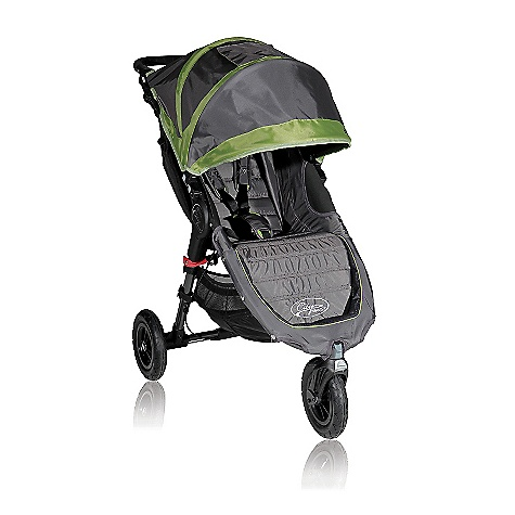 Entertainment Free Shipping. Baby Jogger City Mini GT Single Stroller DECENT FEATURES of the Baby Jogger City Mini GT Single Stroller Patented Quick-Fold Technology - allows you to fold your stroller with one hand Swivel front wheel for quick and agile maneuverability can lock into place for long distance strolling 8.5in. quick-release forever-air tires with sealed ball bearings Plush padded seat reclines to a near flat position with a vented seat top and retractable weather cover Universal accessory mounting bracket - accessorize your stroller with ease Large multi-position sun canopy with clear view windows Adjustable handlebar for users of all heights Front wheel suspension provides a smooth comfortable ride Seat back storage compartment Large, easy to access under seat storage basket Adjustable five-point safety harness with shoulder pads and buckle cover Hand operated parking brake Removable auto-lock to keep stroller folded 65 lb. weight capacity on stroller The SPECS Seat back: 21in. Head height: 26in. Shoulder width: 13in. Seat to knee: 10in. Knee to footplate: 10in. Width at knee: 14in. - $349.95