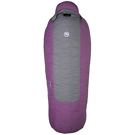 Camp and Hike On Sale. Free Shipping. Big Agnes Women's Helena -15 Degree Sleeping Bag DECENT FEATURES of the Big Agnes Women's Helena -15 Degree Sleeping Bag Integrated full pad sleeve Rectangular shaped bag Extra 2in./5cm of girth in hip area Extra 2in./5cm of length in foot box Pillow pocket Liner loops 60in./152cm YKK #8 zipper 70in./178cm YKK #8 zipper Mate together left and right zip bags Cotton storage sack and nylon stuff sack No-draft collar, No-draft wedge, No-draft zipper The SPECS Temperature Rating: -15deg F / -26deg C Stuff Sack Size: XXL: 12 x 23in. / 31 x 58 cm Nylon micro fiber rip-stop Flow Construction   Fill Type: 650 fill down insulation The SPECS for Petite Fit Up To: 5'8in. / 173 cm Fill Weight: 32 oz / 915 g Bag Weight: 4 lbs 2 oz / 1871 g Pad Size: 20 x 66in. / 51 x 168 cm Compressed Size: 10 x 11in. / 25 x 28 cm The SPECS for Regular Fit Up To: 5'10in. / 178 cm Fill Weight: 33 oz / 940 g Bag Weight: 4 lbs 4 oz / 1928 g Pad Size: 20 x 72in. / 51 x 183 cm Compressed Size: 10 x 12in. / 25 x 31 cm - $279.99