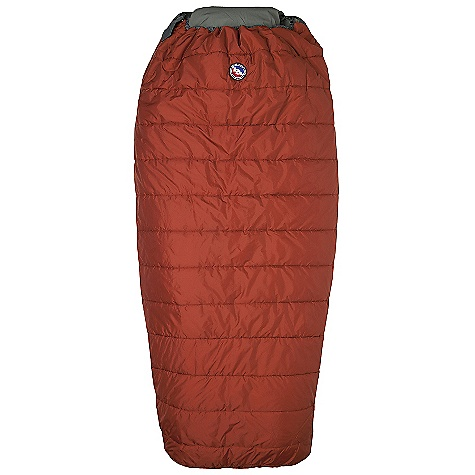 Camp and Hike Free Shipping. Big Agnes Buffalo Park 40 Degree Sleeping Bag DECENT FEATURES of the Big Agnes Buffalo Park 40 Degree Sleeping Bag Integrated full pad sleeve Rectangular shaped bag Pillow Pocket Liner loops 70in./178cm YKK #8 zipper Mate together left and right zip bags Nylon stuff sack No-draft collar, No-draft wedge, No-draft zipper The SPECS Temperature Rating: 40deg F / 4deg C Fit Up To: 6'6in. / 198 cm Pad Size: 25 x 78in. / 64 x 198 cm Fill Type: Quallofil Fill Weight: 20 oz / 567 g Bag Weight: 3 lbs 2 oz / 1417 g Stuff Sack Size: M: 8 x 17.5in. / 20 x 45 cm Compressed Bag Size: 8 x 12in. / 20 x 31 cm Nylon rip-stop shell fabric Cotton/Polyester lining Thermolite Quallofil insulation - $129.95