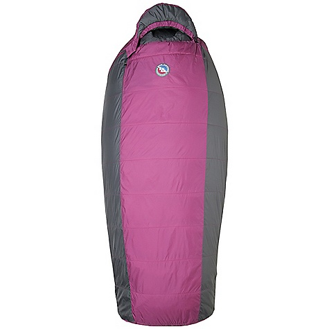 Camp and Hike Free Shipping. Big Agnes Women's Lulu 15 Degree Sleeping Bag DECENT FEATURES of the Big Agnes Women's Lulu 15 Degree Sleeping Bag Integrated full pad sleeve Rectangular shaped bag Extra 2in. /5cm of girth in hip area Extra 2in. /5cm of length in foot box Pillow Pocket Zippered stash pocket at shoulder Liner loops 60in. /152cm YKK #8 zipper - Petite bags 70in./178cm YKK #8 zipper - Regular bags Mate together left and right zip bags Mesh storage sack and nylon stuff sack No-draft collar, No-draft wedge, No-draft zipper The SPECS Temperature Rating: 30deg F / -1deg C Stuff Sack Size: L: 9 x 20in. / 23 x 51 cm Fill Type: Integrity Nylon rip-stop fabric A-Shingo construction A-Flex construction: Lulu, Brooklyn Intergrity 97% recycled insulation The SPECS for Petite Fill Weight: 22 oz / 624 g Bag Weight: 3 lbs 2 oz / 1417 g Shoulder Girth: 68in. Hip Girth: 66in. Compressed Size: 9 x 8.5in. / 23 x 22 cm Pad Size: 20 x 66in./ 51 x 168 cm The SPECS for Regular Fill Weight: 24 oz / 680 g Bag Weight: 3 lbs 6 oz / 1531 g Shoulder Girth: 70in. Hip Girth: 68in. Compressed Size: 9 x 9in. / 23 x 23 cm Pad Size: 20 x 72in./ 51 x 183 cm - $159.95