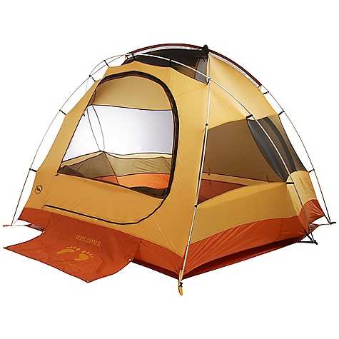 Camp and Hike Free Shipping. Big Agnes Big House - 4 Person Tent DECENT FEATURES of the Big Agnes Big House - 4 Person Tent Fabrics and mesh used on the inner tents are made from breathable lightweight nylon or polyester Mesh body designs offer excellent ventilation Oversized stake out loops Free standing structures reduce the number of stakes Interior mesh pockets for organizing gear Gear loft loops included Footprints extend the life of your tent floor and can be used in the fast fly setup option on some models Footprints and gear lofts sold separately Storm flap on vestibule zippers prevents drips Fabrics used on our tents include silicone treated nylon rip-stop and polyester depending on the model CORDURA fabrics used in our Mountaineering line Waterproof polyurethane coating on all fly and floor fabrics Reflective guyline and reflective webbing on tent corners for nighttime visibility All seams taped with waterproof, solvent free polyurethane tape (no PVC or VOC) Fly vents improve ventilation to reduce condensation One large door with two closure options. Mesh only for ventilation or zip up the polyester layer for complete closure Reflective guyline Fly walls can be rolled up to expose mesh walls for increased ventilation and visibility Welcome mat on front door Color coded webbing and buckles Two built-in storage shelves Fly is polyester rip-stop and floor is polyester Fly and floor have 1500mm waterproof polyurethane coating Tent body is polyester rip-stop and polyester mesh All seams taped with waterproof, solvent-free polyurethane tape (No PVC or VOC's) Lightweight aluminum pole system with press fit connectors Plastic clips and sleeve attach tent body to pole frame 14 lightweight aluminum hook stakes with tent Seven lightweight aluminum hook stakes with optional accessory vestibule Six interior mesh pockets Gear Loft loops included Briefcase style carry bag with shoulder straps and organizational pockets Footprint sold separately Optional extra large vestibule sold separately Fast Fly setup not available Fits Trapezoid gear loft sold separately $22 The SPECS Capacity: 4 Person Trail Weight: 9 lbs 7 oz / 4.28 kg Packed Weight: 10 lbs 6 oz / 4.70 kg Packed Size: 4 x 14 x 26in. / 10 x 36 x 66 cm Floor Size: 65 square feet / 6.0 square metre Floor Length: 100in. / 254 cm Floor Width: 96in. - 82in. / 244 - 208 cm Head Height: 68in. / 173 cm Footprint Weight: 1 lb / 454 g - $299.95