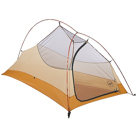 Camp and Hike Free Shipping. Big Agnes Fly Creek UL 1 Person Tent DECENT FEATURES of the Big Agnes Fly Creek UL 1 Person Tent Fabrics and mesh used on the inner tents are made from breathable lightweight nylon or polyester Mesh body designs offer excellent ventilation Oversized stake out loops Free standing structures reduce the number of stakes Interior mesh pockets for organizing gear Gear loft loops included Footprints extend the life of your tent floor and can be used in the fast fly setup option on some models Footprints and gear lofts sold separately Storm flap on vestibule zippers prevents drips Fabrics used on our tents include silicone treated nylon rip-stop and polyester depending on the model CORDURAr fabrics used in our Mountaineering line Waterproof polyurethane coating on all fly and floor fabrics Reflective guyline and reflective webbing on tent corners for nighttime visibility All seams taped with waterproof, solvent free polyurethane tape (no PVC or VOC) Fly vents improve ventilation to reduce condensation Single door and vestibule Storm flaps on vestibule zipper Reflective guyline and webbing on tent corners Fly and floor are silicone treated nylon rip-stop Fly and floor have 1200mm waterproof polyurethane coating Tent body is nylon and polyester mesh All seams taped with waterproof, solvent-free polyurethane tape (No PVC or VOC's) DAC Featherlite NSL pole system with press fit connectors and lightweight hubs DAC Twist Clips attach tent body to pole frame Hub pole design 11 Superlight aluminum J stakes Three (UL1andUL2), six (UL3andUL4) interior mesh pockets Gear Loft loops included Footprint sold separately Fast Fly setup available UL1 and UL2 fits Triangle gear loft sold separately $22 The SPECS Capacity: 1 Person Trail Weight: 1 lb 14 oz / 850 g Packed Weight: 2 lbs 3 oz / 992 kg Fast Fly Weight: 1 lb 6 oz / 624 kg Packed Size: 5in. x 19in. / 13 x 48 cm Floor Size: 22 square feet / 2.0 square meter Floor Length: 86in. / 218 cm Floor Width: 42in. - 30in. / 107 - 76 cm Head Height: 38in. / 97 cm Foot Height: 22in. / 56 cm Vestibule Area: 5.5 square feet / 0.5 square meter Footprint Weight: 4 oz / 113 g - $319.95