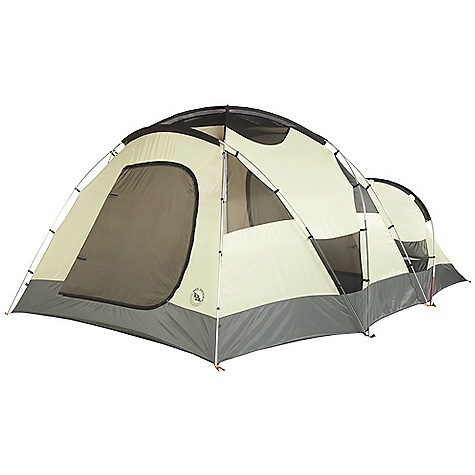 Camp and Hike Free Shipping. Big Agnes Flying Diamond - 8 Person Tent DECENT FEATURES of the Big Agnes Flying Diamond - 8 Person Tent Fabrics and mesh used on the inner tents are made from breathable lightweight nylon or polyester Mesh body designs offer excellent ventilation Oversized stake out loops Free standing structures reduce the number of stakes Interior mesh pockets for organizing gear Gear loft loops included Footprints extend the life of your tent floor and can be used in the fast fly setup option on some models Footprints and gear lofts sold separately Storm flap on vestibule zippers prevents drips Fabrics used on our tents include silicone treated nylon rip-stop and polyester depending on the model CORDURA fabrics used in our Mountaineering line Waterproof polyurethane coating on all fly and floor fabrics Reflective guyline and reflective webbing on tent corners for nighttime visibility All seams taped with waterproof, solvent free polyurethane tape (no PVC or VOC) Fly vents improve ventilation to reduce condensation Features Double doors and vestibules Doors have two closure options: Zip up mesh door only for ventilation or zip up the polyester layer for full protection Vestibule may be staked out as a shade using trekking poles 6 and 8 person may be separated into two rooms with a fabric wall that can be stowed away when not in use Storm flaps on vestibule zipper Reflective guyline Fly is polyester rip-stop and floor is polyester Fly and floor have 1500mm waterproof polyurethane coating Tent body is polyester rip-stop and polyester mesh All seams taped with waterproof, solvent-free polyurethane tape (No PVC or VOC's) DAC Combination pole system with press fit connectors Plastic clips and sleeves attach tent body to pole frame Color coded pole ends, webbing and buckles make set up easy 15 (4), 20 (6and8) lightweight aluminum hook stakes Eight (4), six (6and8) interior mesh pockets Gear Loft loops included Briefcase style carry bag with shoulder straps and organizational pockets Footprint sold separately Fast Fly setup not available 4 fits Square gear loft. 6 and 8 fit two Trapezoid gear lofts sold separately $22 The SPECS Capacity: 8 Person Trail Weight: 22 lbs 6 oz / 10.15 kg Packed Weight: 27 lbs 12 oz / 12.59 kg Packed Size: 8 x 16 x 27in. / 20 x 41 x 69 cm Floor Size: 112 square feet / 10.4 square metre Floor Length: 175in. / 445 cm Floor Width: 96in. - 115in. - 84in. / 244 - 292 - 213 cm Head Height: 72in. - 54in. / 183 - 137 cm Vestibule Area: 35 square feet / 3.3 square metre Footprint Weight: 2 lbs 11 oz / 1.22 kg - $639.95