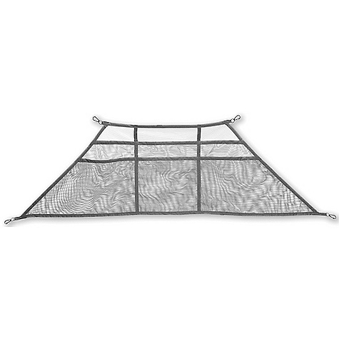 Camp and Hike Features of the Big Agnes Big Wall Gear Loft Large Wall Loft-Fits: Gore Pass 2 and 3, Slide Mountain 2 and 3 6 mesh pockets for extra storage Attaches quickly and easily Helps keep tent organized - $21.95