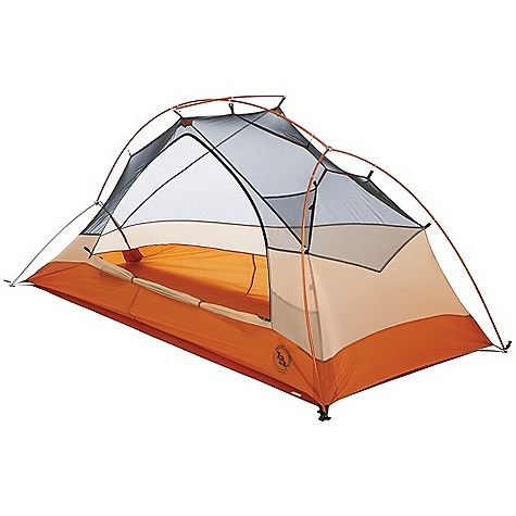 Camp and Hike Free Shipping. Big Agnes Copper Spur UL 1 Person Tent DECENT FEATURES of the Big Agnes Copper Spur UL 1 Person Tent Fabrics and mesh used on the inner tents are made from breathable lightweight nylon or polyester Mesh body designs offer excellent ventilation Oversized stake out loops Free standing structures reduce the number of stakes Interior mesh pockets for organizing gear Gear loft loops included Footprints extend the life of your tent floor and can be used in the fast fly setup option on some models Footprints and gear lofts sold separately Storm flap on vestibule zippers prevents drips Fabrics used on our tents include silicone treated nylon rip-stop and polyester depending on the model CORDURAr fabrics used in our Mountaineering line Waterproof polyurethane coating on all fly and floor fabrics Reflective guyline and reflective webbing on tent corners for nighttime visibility All seams taped with waterproof, solvent free polyurethane tape (no PVC or VOC) Fly vents improve ventilation to reduce condensation UL1 features single door and vestibule UL2, UL3, UL4 feature double doors and vestibules Storm flaps on vestibule zipper Reflective guyline and webbing on tent corners Fly and floor are silicone treated nylon rip-stop Fly and floor have 1200mm waterproof polyurethane coating Tent body is nylon and polyester mesh All seams taped with waterproof, solvent-free polyurethane tape (No PVC or VOC's) DAC Featherlite NSL pole system with press fit connectors and lightweight hubs DAC H Clip attaches tent body to cross pole DAC Twist Clips attach tent body to the pole frame Hub pole design 8 (UL1,UL2andUL3), 10 (UL4) Superlight aluminum J stakes One (UL1), two (UL2andUL3), eight (UL4) interior mesh pockets Gear Loft loops included Footprint sold separately Fast Fly setup available Fits Wall gear loft sold separately $22 The SPECS Capacity: 1 Person Trail Weight: 2 lbs 6 oz / 1.07 g Packed Weight: 2 lbs 12 oz / 1.25 kg Fast Fly Weight: 1 lb 14 oz / 850 kg Packed Size: 6in. x 16in. / 15 x 41 cm Floor Size: 22 square feet / 2 square meter Floor Length: 90in. / 229 cm Floor Width: 42in. - 30in. / 107 - 76 cm Head Height: 37in. / 94 cm Foot Height: 14in. / 36 cm Vestibule Area: 10 square feet / 0.9 square meter Footprint Weight: 4 oz / 113 g - $349.95