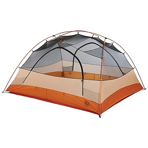Camp and Hike Free Shipping. Big Agnes Copper Spur UL 4 Person Tent DECENT FEATURES of the Big Agnes Copper Spur UL 4 Person Tent Fabrics and mesh used on the inner tents are made from breathable lightweight nylon or polyester Mesh body designs offer excellent ventilation Oversized stake out loops Free standing structures reduce the number of stakes Interior mesh pockets for organizing gear Gear loft loops included Footprints extend the life of your tent floor and can be used in the fast fly setup option on some models Footprints and gear lofts sold separately Storm flap on vestibule zippers prevents drips Fabrics used on our tents include silicone treated nylon rip-stop and polyester depending on the model CORDURAr fabrics used in our Mountaineering line Waterproof polyurethane coating on all fly and floor fabrics Reflective guyline and reflective webbing on tent corners for nighttime visibility All seams taped with waterproof, solvent free polyurethane tape (no PVC or VOC) Fly vents improve ventilation to reduce condensation UL1 features single door and vestibule UL2, UL3, UL4 feature double doors and vestibules Storm flaps on vestibule zipper Reflective guyline and webbing on tent corners Fly and floor are silicone treated nylon rip-stop Fly and floor have 1200mm waterproof polyurethane coating Tent body is nylon and polyester mesh All seams taped with waterproof, solvent-free polyurethane tape (No PVC or VOC's) DAC Featherlite NSL pole system with press fit connectors and lightweight hubs DAC H Clip attaches tent body to cross pole DAC Twist Clips attach tent body to the pole frame Hub pole design 8 (UL1,UL2 and UL3), 10 (UL4) Superlight aluminum J stakes One (UL1), two (UL2 and UL3), eight (UL4) interior mesh pockets Gear Loft loops included Footprint sold separately Fast Fly setup available Fits Wall gear loft sold separately $22 The SPECS Capacity: 4 Person Trail Weight: 5 lbs 5 oz / 2.41 g Packed Weight: 5 lbs 14 oz / 2.66 kg Fast Fly Weight: 4 lbs 2 oz / 1.87 kg Packed Size: 8in. x 22in. / 20 x 56 cm Floor Size: 57 square feet / 5.3 square meter Floor Length: 86in. / 218 cm Floor Width: 96in. / 244 cm Head Height: 50in. / 127 cm Vestibule Area: 13.5/13.5 square feet / 1.3/1.3 square meter Footprint Weight: 9 oz / 225 g - $599.95