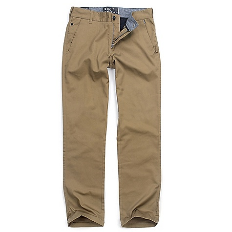 Surf On Sale. Free Shipping. Billabong Men's Carter Pant DECENT FEATURES of the Billabong Men's Carter Pant Stretch chino style pant Welt back pockets Sleek coin pocket at side seam Side cell pocket Embroidered logo detailing Woven work-wear patch on right hip - $28.99