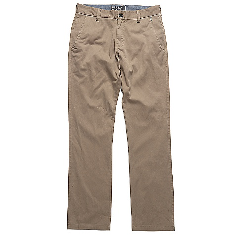 Surf On Sale. Free Shipping. Billabong Men's Carter Pant DECENT FEATURES of the Billabong Men's Carter Pant Chino style pant Details include welt back pockets Sleek coin pocket at side seam Woven work-wear patch on back right hip Made with 65% polyester/35% cotton - $29.99