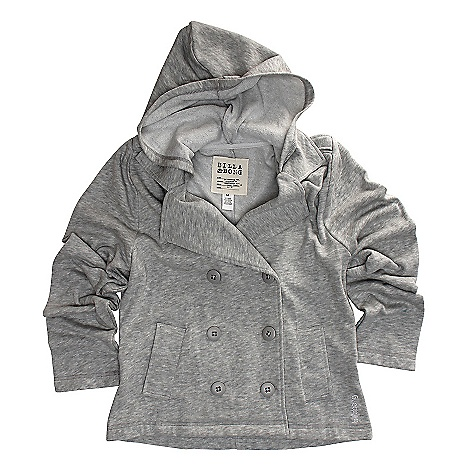 Surf On Sale. Free Shipping. Billabong Women's City Lights Jacket DECENT FEATURES of the Billabong Women's City Lights Double breasted Cropped french terry jacket with hood Fabric for Iced Athletic Heather: 80% cotton, 20% heather Fabric for Wavy Navy: 60% cotton, 40% polyester - $40.99