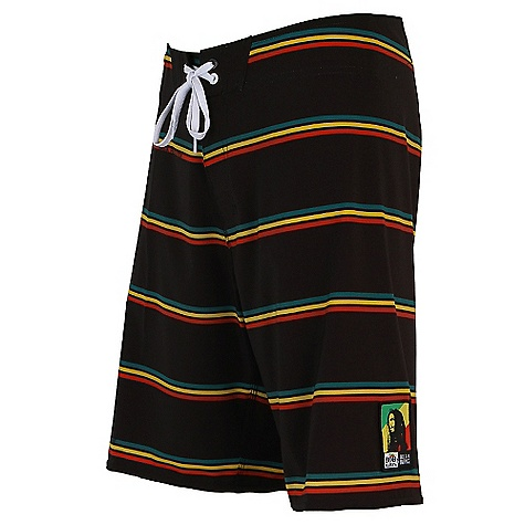 Surf On Sale. Free Shipping. Billabong Men's Jamming Boardshort DECENT FEATURES of the Billabong Men's Jamming 20in. TAJ FIT Platinuym X Quad stretch boardshort Red, gold, and green engineered stripe with Bob Marley's famous song titles in the print Logo's include collaboration woven labels Made with 87% recycled polyester/13% spandex - $25.99