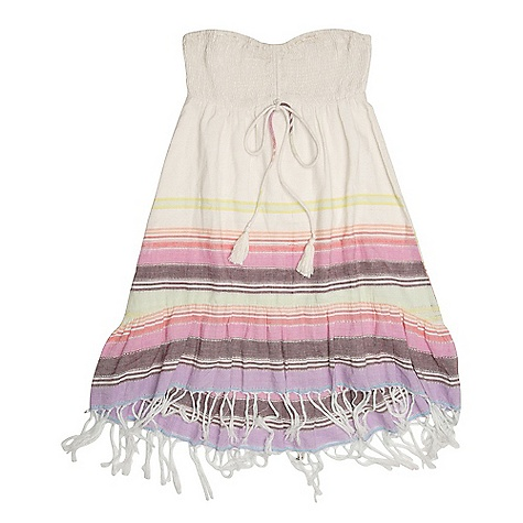 Entertainment On Sale. Free Shipping. Billabong Women's Away We Go Dress DECENT FEATURES of the Billabong Women's Away We Go Dress Woven strapless in.no fussin. dress Engineered yarn dyed fabric Smocked sweetheart bust Self spaghetti tie and tassel tie detail Length: Above knee The SPECS 100% cotton - $23.99