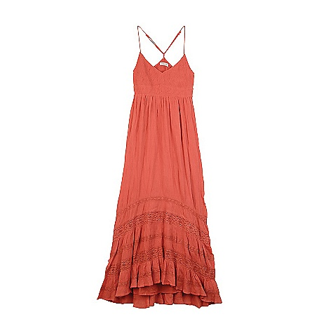 Entertainment On Sale. Free Shipping. Billabong Women's Ashner Dress DECENT FEATURES of the Billabong Women's Ashner Dress Crinkle gauze Spaghetti strap maxi dress Smocked upper Crochet insets at skirt Hi-low sweep The SPECS 100% cotton gauze - $28.99