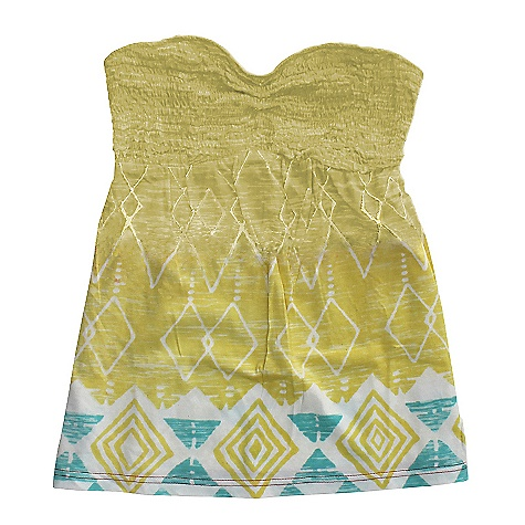 Surf On Sale. Billabong Women's Tubular Tank DECENT FEATURES of the Billabong Women's Tubular Knit bandeau Smocked upper bodice Slight gathering under bust Removable straps & all-over placement print Fabric: 55% cotton / 45& modal - $12.99