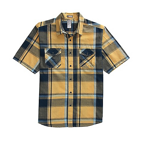 Fitness On Sale. Free Shipping. Billabong Men's Deep End SS Shirt DECENT FEATURES of the Billabong Men's Deep End Short sleeve oversized plaid woven Slub texture running throughout the fabric Details include dual front chest pockets Woven labeling at bottom hem Made with 100% cotton - $16.99