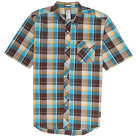 Surf On Sale. Billabong Men's Larson DECENT FEATURES of the Billabong Men's Larson Short sleeve plaid woven Dual front chest pockets Styling details include contrasting chest pockets Woven labeling at front bottom hem - $25.99