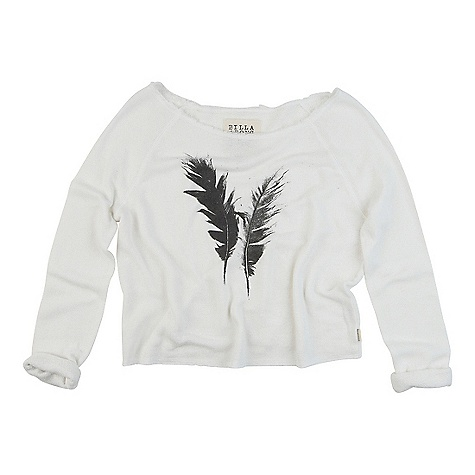 Surf On Sale. Billabong Women's Drive On Over DECENT FEATURES of the Billabong Women's Drive On Over Easy loose knit french terry Open neck pull-over Raglan sleeve Front placement print - $22.99