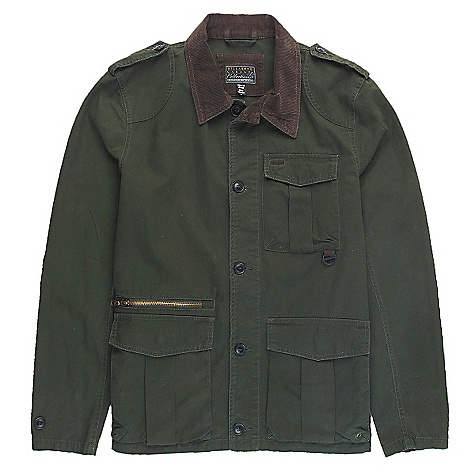 Surf On Sale. Free Shipping. Billabong Men's Addiction Zip Collar DECENT FEATURES of the Billabong Men's Addiction Zip Collar Lightweight twill jacket Contrast cord detailing on collar and elbow patches Single front patch pocket Metal badging Dual bottom patch pockets Zipper opening above wearers right side - $39.99
