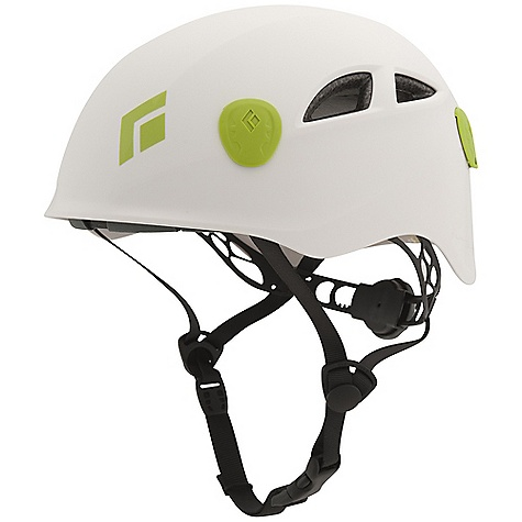 Climbing The Half Dome helmet is a cool looking, low-profile helmet that combines a   rigid shell with a webbing suspension system. Without obscuring your vision,   the sculpted shell offers maximum head coverage and protection. The suspension   system offers great comfort and contributes to good ventilation because there   is ample room for heat to escape. To Fit a variety of different head sizes,   a foam-padded crown strap is easily adjusted using a Velcro closure system.   You can take the Half Dome Climbing anywhere on rock or ice and you might make   it halfway home before you realize you're still wearing it.  Features of the Black Diamond Half Dome Helmet Hybrid design with molded EPS foam, generous ventilation and Highly adjustable suspension system Suspension's custom wheel adjuster allows for improved fine-tuning of Fit Headlamp clips Are the most secure headlamp attachments on the market Available in 2 sizes The most durable helmet Black Diamond makes - $44.96