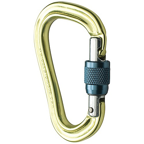 Climbing Black Diamond VaporLock Screwgate Carabiner DECENT FEATURES of the Black Diamond VaporLock Locking Carabiner Increases friction up to 30% when lowering or rappelling with an ATC Munter Hitch compatible on ropes up to 9.4 mm Keylock nose prevents snagging Screwgate sleeve The SPECS Type: Screwgate Weight: 1.8 oz / 52 g Closed Gate Strength: 4.721 lbf / 21 kN Open Gate Strength: 1.574 lbf / 7 kN Minor Axis Strength: 1.798 lbf / 8 kN Gate Opening: 0.79in. / 20 mm ALL CLIMBING SALES ARE FINAL. - $14.95