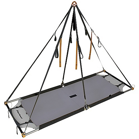 Climbing Free Shipping. Black Diamond Single Portaledge DECENT FEATURES of the Black Diamond Single Portaledge Precise engineering for strength, durability and ease of set-up and adjustment Frame is built from double-butted 6061 T-6 45 mm machined and anodized aluminum 4 pull straps tighten the floor 6-point buckle system for easy leveling Double ripstop 210d nylon ballistics The SPECS Dimension: 84 x 31.5in. / 213 x 80 cm Weight: Haul Sack: 14 lbs 15 oz / 6.8 kg Double-butted aluminum alloy frame, double ripstop 420d pack cloth, Ballistic reinforcements OVERSIZE ITEM: We cannot ship this product by any expedited shipping method (3-Day, 2-Day or Next Day). Even if you pick that option, it will still go Ground Shipping. Sorry for being so mean. ALL CLIMBING SALES ARE FINAL. - $649.95