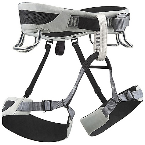 Climbing Black Diamond Momentum AL Harness DECENT FEATURES of the Black Diamond Momentum AL Harness Traditional, fold-back waistbelt buckle Bullhorn-shaped OpenAir waistbelt built using Dual Core Construction Patent-pending trakFIT adjustment for easy, worry-free customization of OpenAir leg loops Adjustable, releasable elastic rear riser 4 pressure-molded gear loops 12 kN-rated haul loop The SPECS Weight: 12 oz / 350 g 210d nylon twill + 150d polyester mesh 4-way nylon knit The SPECS for Small Waist: 27 x 30in. / 69 x 76 cm Legs: 18 x 22in. / 46 x 56 cm The SPECS for Medium Waist: 30 x 33in. / 76 x 84 cm Legs: 20 x 24in. / 51 x 61 cm The SPECS for Large Waist: 33 x 36in. / 84 x 91 cm Legs: 22 x 26in. / 56 x 66 cm The SPECS for Extra Large Waist: 36 x 39in. / 91 x 99 cm Legs: 24 x 28in. / 61 x 71 cm The SPECS for XXL Waist: 40 x 45in. / 100 x 114 cm Legs: 26 x 30in. / 66 x 76 cm ALL CLIMBING SALES ARE FINAL. - $45.95