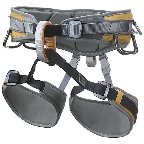 Climbing Free Shipping. Black Diamond Big Gun Harness FEATURES of the Black Diamond Big Gun Harness Thermoformed foam bullhorn waist belt with trad buckle Adjustable, removable leg loops 7 color-coded customizable gear loops 2 color-coded belay loops and 12 kN-rated haul loop Left or right holster slots with one hammer holster included - $119.95