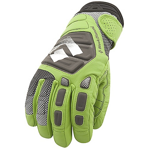 Free Shipping. Black Diamond Men's Legend Glove DECENT FEATURES of the Black Diamond Men's Legend Glove Fixed lining with 100% waterproof and breathable Gore-Tex insert with XCR Product Technology Full goat-leather shell with neoprene cuff Fixed lining has 170 g PrimaLoft One insulation on back of hand and 133 g PrimaLoft One needlepunch palm Goat leather palm and palm patch with Kevlar stitching Compression-molded EVA padding on knuckles for impact protection The SPECS Weight: per pair: 8.6 oz / 244 g Temperature Range: -15/15deg F / -26/-9deg C - $119.95