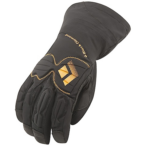 Free Shipping. Black Diamond Men's Enforcer Glove DECENT FEATURES of the Black Diamond Men's Enforcer Glove 100% waterproof and breathable GORE-TEX insert with XCR Product Technology stays with removable liner 2-layer woven nylon shell with 4-way stretch Goat leather palm and palm patch Compression-molded EVA padding for impact protection on knuckles Removable liner with 133 g PrimaLoft One needlepunch insulation on back of hand for maximum dexterity and minimal bulk Ice tool-specific pre-curved fit and articulated fingers for a secure grip The SPECS Type: Unisex Weight per pair: 7.9 oz / 224 g Temperature Rating: 0/30deg F / -17/-1deg C - $139.95