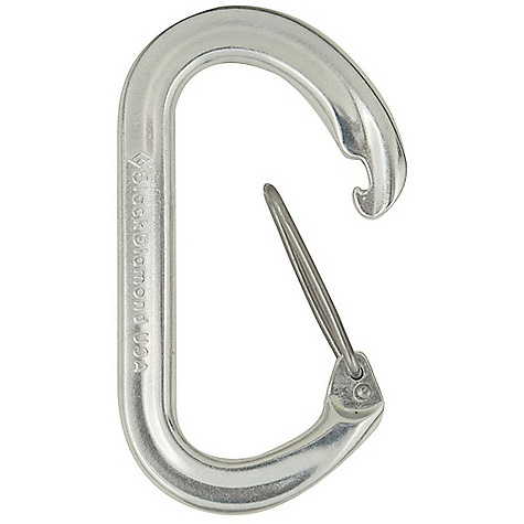 Climbing Black Diamond OvalWire Carabiner DECENT FEATURES of the Black Diamond OvalWire Carabiner Thinner body than classic Oval Wiregate resists whiplash Proven symmetrical design Does not freeze up in alpine conditions The SPECS Weight: 1.6 oz / 45 g Close Gate Strength: 5,170 lbf / 23 kN Open Gate Strength: 1,574 lbf / 7 kN Minor Axis Strength: 1,574 lbf / 7 kN Gate Opening: 1.0in. / 25 mm ALL CLIMBING SALES ARE FINAL. - $6.95
