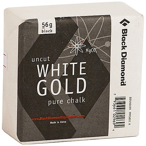 Climbing Black Diamond White Gold Chalk Block - 56g FEATURES of the Black Diamond White Gold Chalk Block - 56g Improves grip for better climbing performance Available loose and in chalk shots, which are magnesium carbonate-filled mesh balls that keep mess to a minimum - $1.95