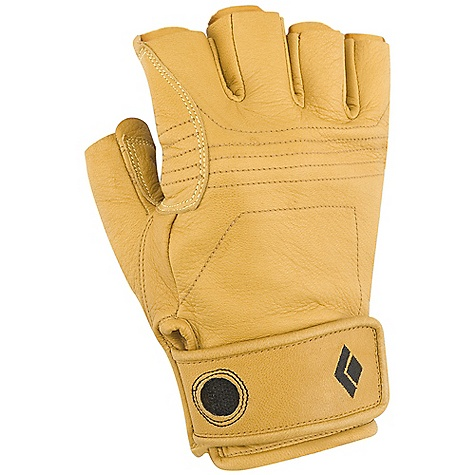 Black Diamond Stone Rock Gloves DECENT FEATURES of the Black Diamond Stone Rock Gloves Goat leather Reinforced leather palm and knuckle patches with Kevlar stitching Hook-and-loop cuff closure The SPECS Weight: per pair: 4.2 oz / 118 g - $39.95