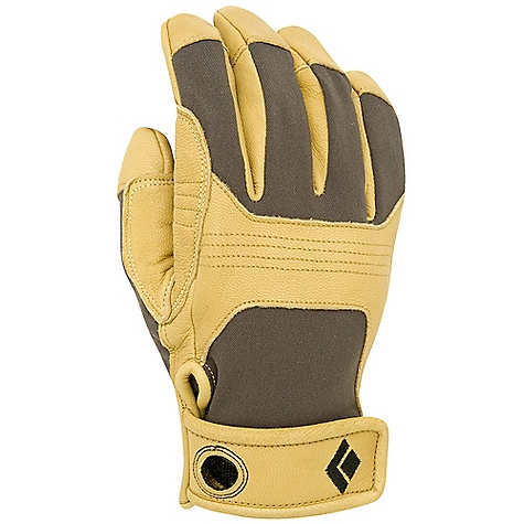 Free Shipping. Black Diamond Transition Rock Gloves DECENT FEATURES of the Black Diamond Transition Rock Gloves Goat leather and abrasion-resistant woven nylon with 4-way stretch Leather knuckle and palm patches with Kevlar stitching Hook-and-loop cuff closure The SPECS Weight: per pair: 3.3 oz / 93 g - $49.95