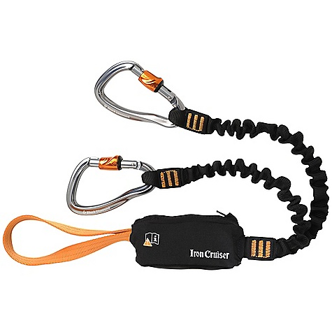Climbing Free Shipping. Black Diamond Iron Cruiser Via Ferrata Set FEATURES of the Black Diamond Iron Cruiser Set 2 Iron Cruiser carabiners have slide-down locking sleeve that operates with one hand Energy Absorption System limits load impact in case of a fall Extendable, bungee-style lanyards Webbing loop attaches directly to the harness - $89.95
