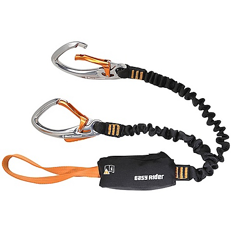 Climbing Free Shipping. Black Diamond Easy Rider Via Ferrata Set DECENT FEATURES of the Black Diamond Easy Rider Set 2 Easy Rider carabiners have internal locking mechanism with squeeze actuation Energy Absorption System limits load impact in case of a fall Extendable, bungee-style lanyards Webbing loop attaches directly to the harness The SPECS Weight: 1 lb 1 oz / 492 g Strength: 5.395 lbf / 24 kN ALL CLIMBING SALES ARE FINAL. - $109.95